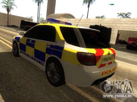 SAAB 9-2 Aero Turbo Generic UK Police für GTA San Andreas zurück linke Ansicht