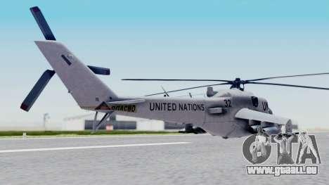 Mi-24V United Nations 032 für GTA San Andreas linke Ansicht