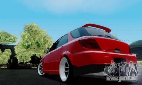Subaru Impreza WRX STi Wagon Fox 2007 für GTA San Andreas zurück linke Ansicht