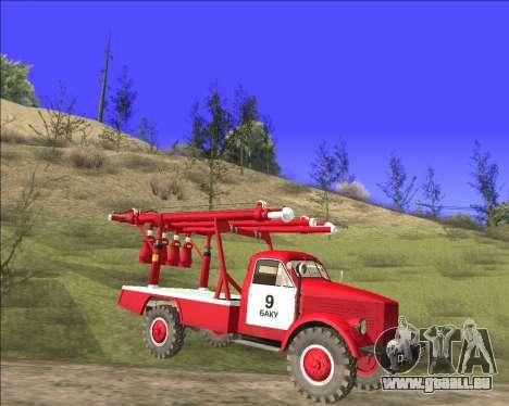 GAZ 63 APG-14 camion de pompiers pour GTA San Andreas laissé vue