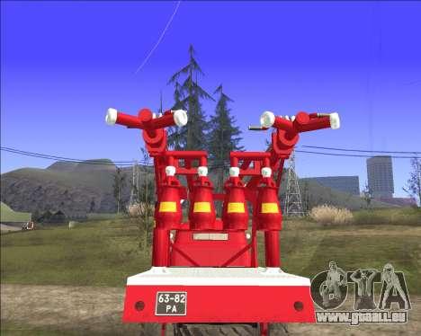 GAZ 63 APG-14 camion de pompiers pour GTA San Andreas vue de droite