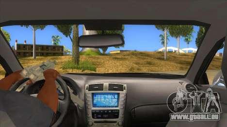 Lexus ISF für GTA San Andreas Innenansicht
