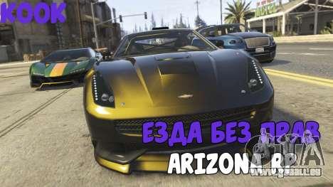 Rouler sans une licence de l'ARIZONA RP pour GTA San Andreas