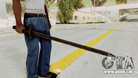 Skyrim Iron Sword für GTA San Andreas