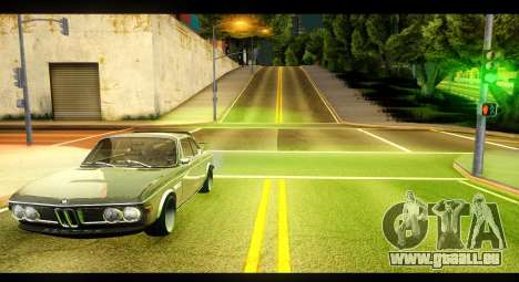 BMW 3.0 CSL für GTA San Andreas linke Ansicht