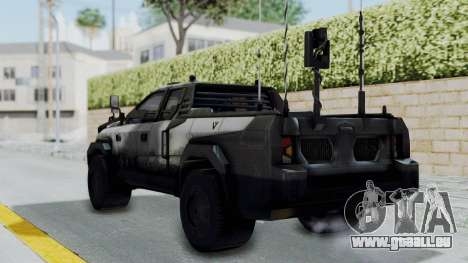 Advanced Warfare Tactical Pickup pour GTA San Andreas laissé vue