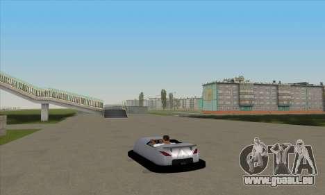 Das Auto für die Rennstrecke für GTA San Andreas linke Ansicht
