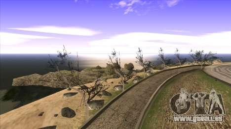 La construction du pont, et la forêt dense pour GTA San Andreas dixième écran