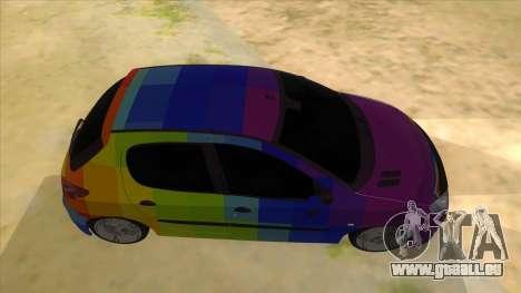 Iranian Peugeot 206 Sport pour GTA San Andreas vue intérieure