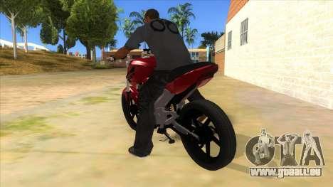 Honda Twister Stunt pour GTA San Andreas sur la vue arrière gauche