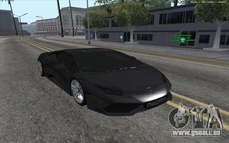 Lamborghini Huracan für GTA San Andreas rechten Ansicht