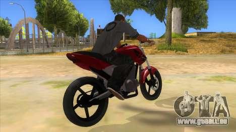 Honda Twister Stunt pour GTA San Andreas vue de droite