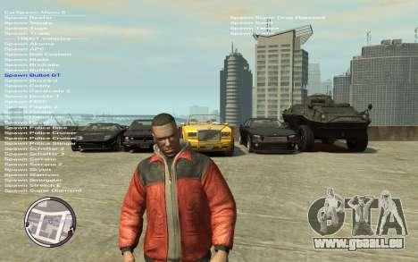 Native Trainer GTA EFLC ENG [STEAM] für GTA 4 dritte Screenshot