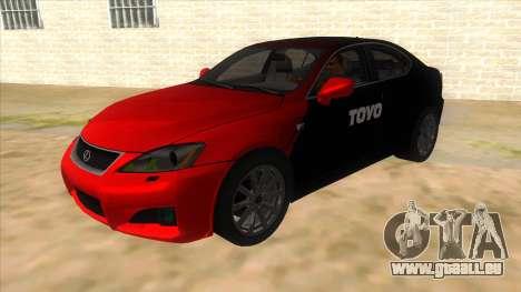 Lexus ISF für GTA San Andreas Seitenansicht