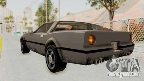 Beta VC Banshee pour GTA San Andreas sur la vue arrière gauche