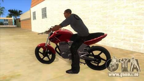 Honda Twister Stunt pour GTA San Andreas laissé vue