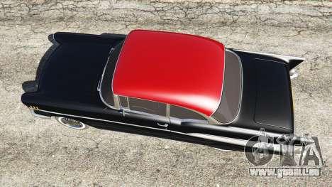 GTA 5 Chevrolet Bel Air Sport Coupe 1957 v1.5 vue arrière
