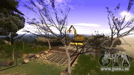 La construction du pont, et la forêt dense pour GTA San Andreas