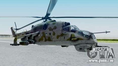 Mi-24V Soviet Air Force 14 pour GTA San Andreas