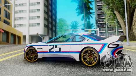 2015 BMW CSL 3.0 Hommage R pour GTA San Andreas laissé vue