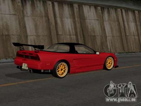 Honda NSX (NA1) Time Attack pour GTA San Andreas sur la vue arrière gauche