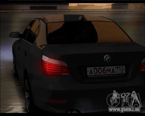 BMW 530xd stock für GTA San Andreas zurück linke Ansicht