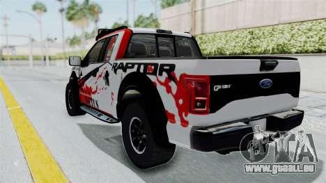 Ford F-150 Raptor 2015 für GTA San Andreas zurück linke Ansicht