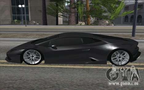 Lamborghini Huracan für GTA San Andreas linke Ansicht