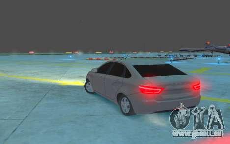 Lada Vesta pour GTA 4 Vue arrière de la gauche