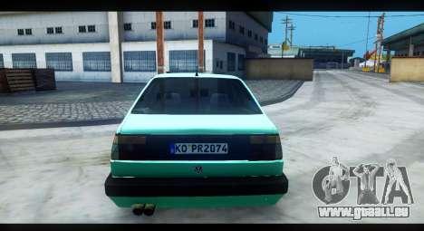 Volkswagen Jetta Mk2 pour GTA San Andreas vue arrière