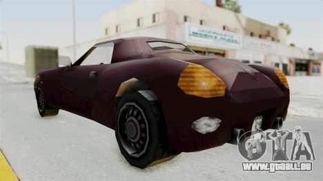 GTA 3 Stinger pour GTA San Andreas sur la vue arrière gauche