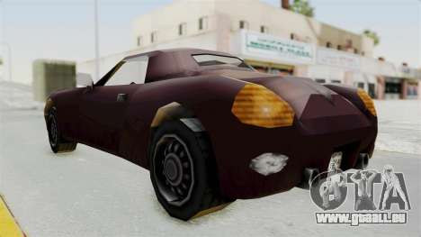 GTA 3 Stinger für GTA San Andreas zurück linke Ansicht