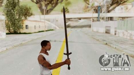 Skyrim Iron Sword pour GTA San Andreas troisième écran