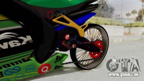 Kawasaki Ninja ZXRR56R pour GTA San Andreas vue de droite