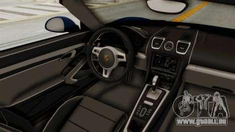 Porsche Boxster Liberty Walk für GTA San Andreas Innenansicht