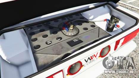 GTA 5 BMW M3 (E30) 1991 v1.3 avant droite vue de côté