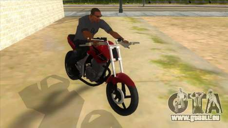 Honda Twister Stunt pour GTA San Andreas vue arrière