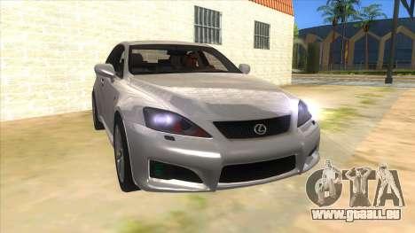 Lexus ISF für GTA San Andreas Rückansicht