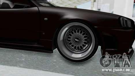 Nissan Skyline R34 GTR 2002 V-Spec II S-Tune pour GTA San Andreas vue arrière