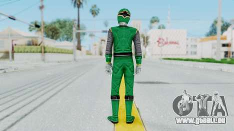 Power Rangers Ninja Storm - Green für GTA San Andreas dritten Screenshot