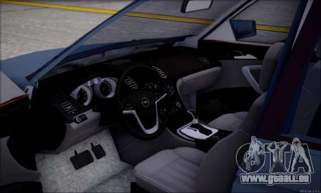 Opel Astra pour GTA San Andreas vue intérieure