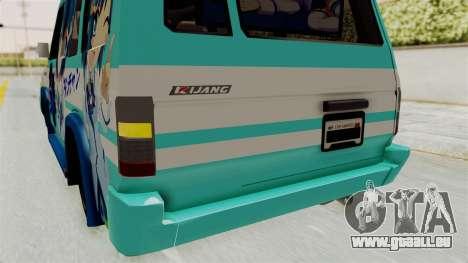 Toyota Kijang Grand Extra Itasha pour GTA San Andreas vue de dessous