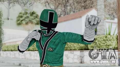 Power Rangers Samurai - Green für GTA San Andreas