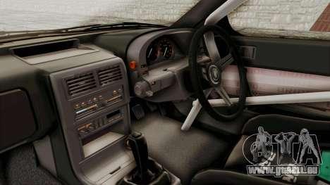 Mazda RX-7 1990 (FC3S) Cordelia Glauca Itasha für GTA San Andreas Innenansicht