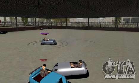 Das Auto für die Rennstrecke für GTA San Andreas zurück linke Ansicht