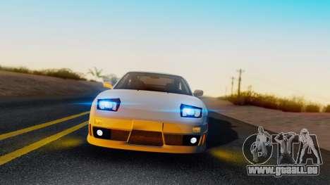 Nissan 180SX Type X pour GTA San Andreas sur la vue arrière gauche