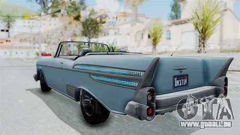 GTA 5 Declasse Tornado No Bobbles and Plaques für GTA San Andreas linke Ansicht