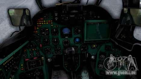 Mi-24V United Nations 032 für GTA San Andreas Rückansicht