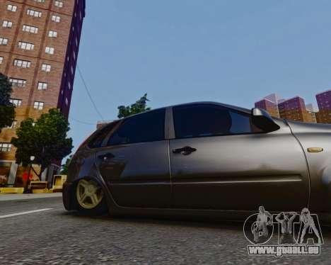 Lada Kalina pour GTA 4 Vue arrière de la gauche