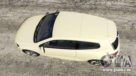 Volkswagen Scirocco R III Typ 13 2011 pour GTA 5
